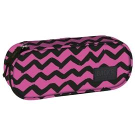 BackUp ovális tolltartó - Rózsaszín csíkok