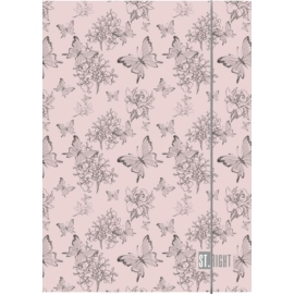 St.Right - Vintage Butterflies A/4 gumis mappa (005176)