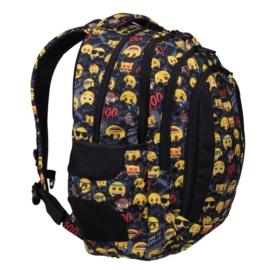 Emoji hátizsák, iskolatáska - 4 rekeszes, mellpánttal - Welcoe to Emojiville (206030)