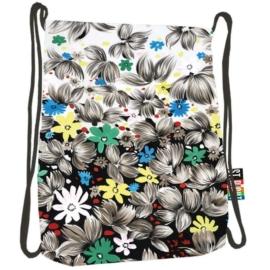 St.Right - Flowers Black zsinóros hátizsák (613562)