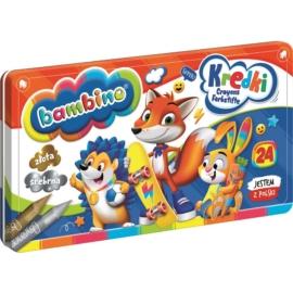 Bambino 24 színű zsírkréta - fém dobozban