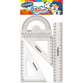 Bambino vonalzó szett 4 db-os - 20 cm