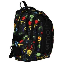 Emoji hátizsák, iskolatáska - 4 rekeszes