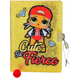 LOL Surprise csillámos kulcsos napló - A5/96 lap - Cute but Fierce
