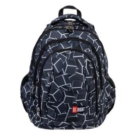 St.Right - Cubes hátizsák, iskolatáska - 4 rekeszes - mellpánttal