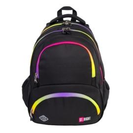 St.Right - Rainbow Zipper hátizsák, iskolatáska - 4 rekeszes - hűtőzsebbel