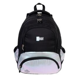 St.Right - Silver Holo hátizsák, iskolatáska - 4 rekeszes - hűtőzsebbel