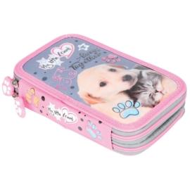 My little friend felszerelt emeletes tolltartó - Cat & Dog
