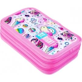 St.Right - Unikornis felszerelt emeletes tolltartó - Sweet and Pink