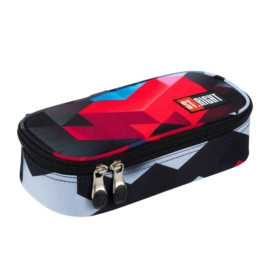 St.Right - Red 3D Blocks XL szögletes tolltartó