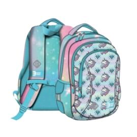 St.Right - Unikornisos hátizsák, iskolatáska - 3 rekeszes - mellpánttal - Pastel Unicorns