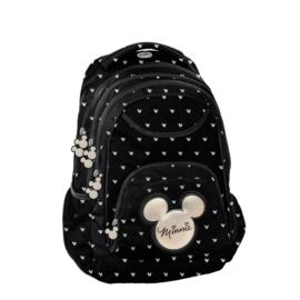 BeUniq Minnie Mouse hátizsák, iskolatáska - 3 rekeszes - Minnie Black