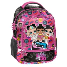 LOL Surprise hátizsák, iskolatáska - 2 rekeszes - Remix (LOC-260)
