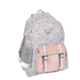 Minnie Mouse hátizsák, iskolatáska - 2 rekeszes - Csillámos (DMNI-810)