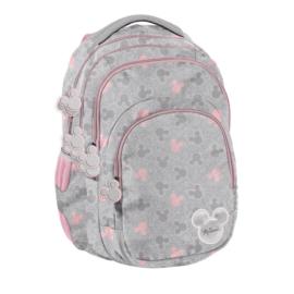 Minnie Mouse hátizsák, iskolatáska - 3 rekeszes - Csillámos (DMNI-2706)