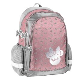 Minnie Mouse hátizsák, iskolatáska - 3 rekeszes - Csillámos masnik
