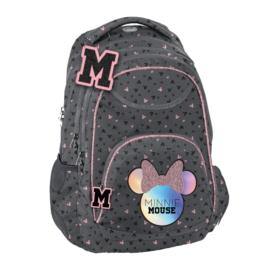 Minnie Mouse hátizsák, iskolatáska - 3 rekeszes - Hologram (DMNA-2708)