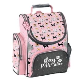 Stay PAWsitive kutyás ergonomikus iskolatáska - Pink