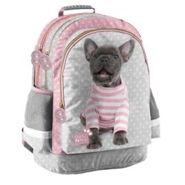 Studio Pets kutyás iskolatáska, hátizsák - 3 rekeszes - Francia bulldog