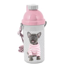 Studio Pets kutyás műanyag kulacs - Francia bulldog