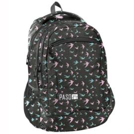 Színes madarak iskolatáska, hátizsák - 3 rekeszes (PPJS19-2808)