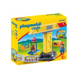 Playmobil 1.2.3 - Építési daru játékszett