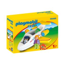 Playmobil 1.2.3 - Utasszállító kisrepülőgép játékszett