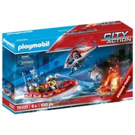 Playmobil City Action - Tűzoltók helikopterrel és csónakkal