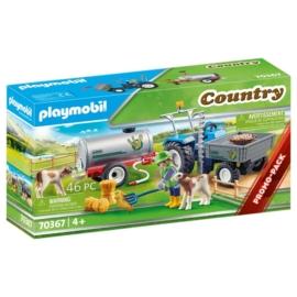 Playmobil Country - Pótkocsis traktor víztartállyal játékszett