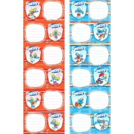 Hupikék törpikék 6 db-os füzetcímke (260684)