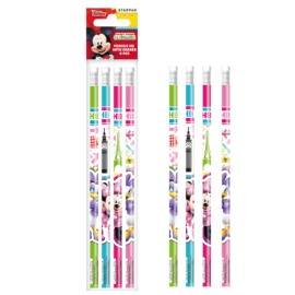 Minnie Mouse grafit ceruza radírral - 4 db-os (352890)