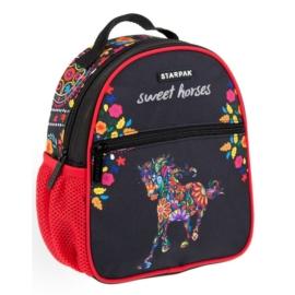 Lovas mini hátizsák - Sweet horses, virágos (396190)