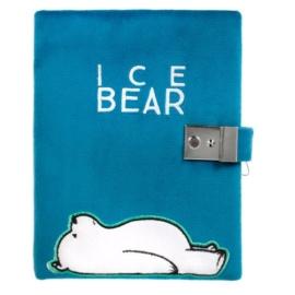 Medvetesók - Jeges plüss kulcsos napló 15 x 20 cm (410008)