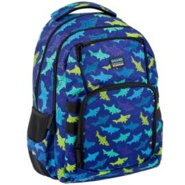 Cápás ergonomikus hátizsák, iskolatáska - mellpánttal - Shark