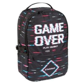 Game Over 2 rekeszes hátizsák, iskolatáska
