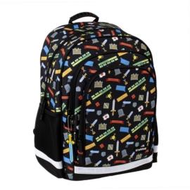 Game Pixel ergonomikus hátizsák, iskolatáska