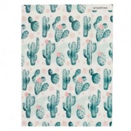 Kaktuszos A/4 gumis mappa