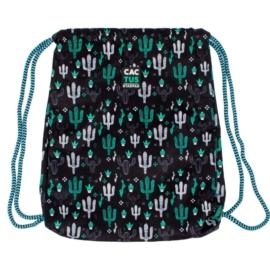 Kaktuszos zsinóros hátizsák, tornazsák