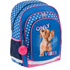 Kutyás ergonomikus hátizsák, iskolatáska - Only Good Vibes