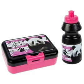 Pandás uzsonnás doboz kulaccsal - Hello Panda