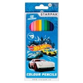 Hot Wheels 12 db-os színesceruza készlet