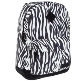 Zebra mintás hátizsák, iskolatáska