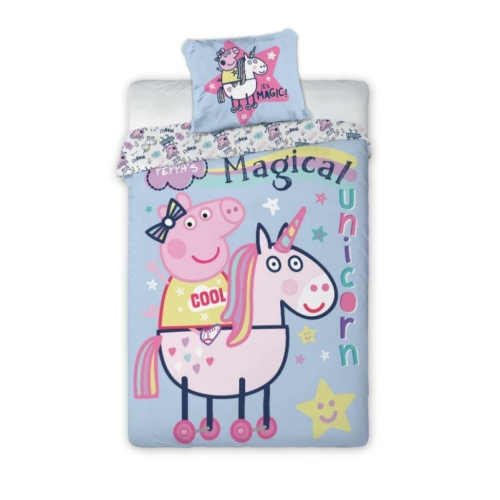 Peppa malac ágyneműhuzat szett - Magical Unicorn
