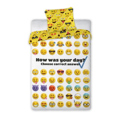 Emojis ágyneműhuzat szett