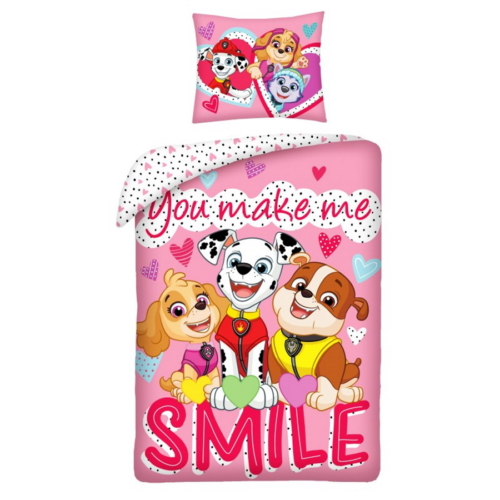 Mancs őrjárat ágyneműhuzat szett - Smile