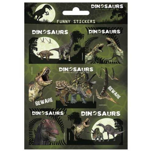 Dinoszauruszok matrica - 11 x 16 cm (NFDN)