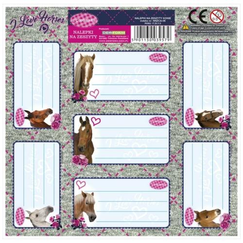 I love horses 7 db-os füzetcímke (NNZKO)