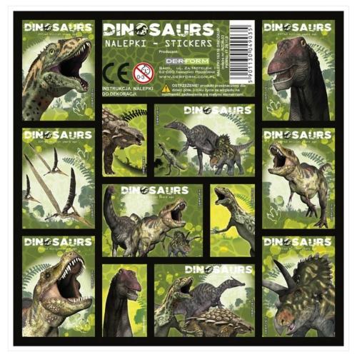 Dinoszauruszok matrica 16 x 16 cm (NZDN)
