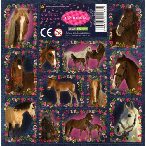 I love horses matrica 16 x 16 cm (NZKO)