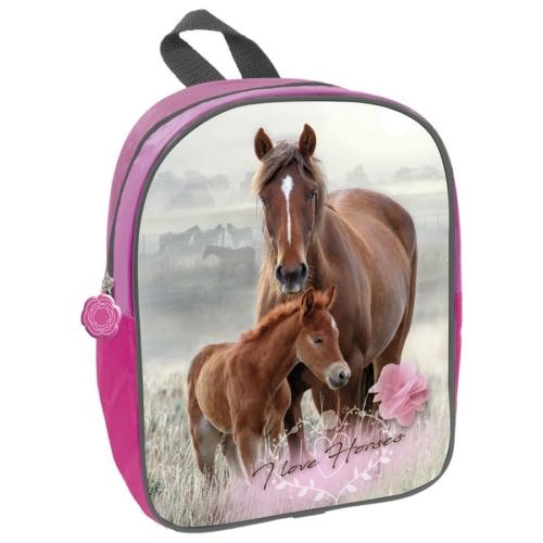 I love horses kisméretű hátizsák - Virágok (PL11TKO18)